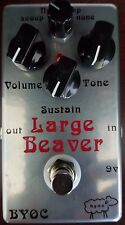 BYOC Effects Large Beaver Pedal New ASSEMBLED Triangle V1 Specs Silver