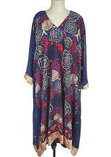 "4X 5X Chiffon Kaftan L 48"" Embroidered Dress Poncho Caftan Tunic - EP139"