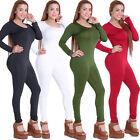 Sexy Da Donna A Fascia Bodycon Manica Lunga Vestito Club Tutina Tuta Pantaloni