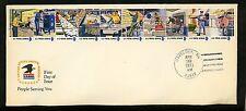 US FDC #1489-1498 USPS Postal People 4/30/1973 Havelock NC North Carolina