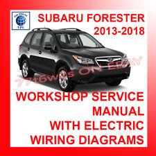 2013-2018 SUBARU FORESTER WORKSHOP SERVICE REPAIR MANUAL & WIRING DIAGRAMS