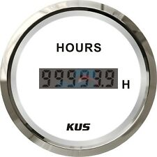 KUS Marine Engine Hour Meter for Boat Outboard Hour Meter Gauge 12/24V