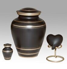 Elegant Black Urn, Adult Urn, Funeral Urn, Brass, Handcrafted!
