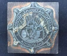 Vintage Pacific National Company California Wood Metal Stamp Seal Shipping