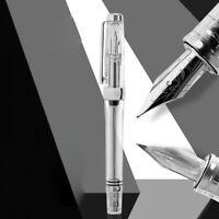 Wingsung 3013 Transparent Vaccum Filling Fountain Pen EF/ F Nib Ink Writing Gift