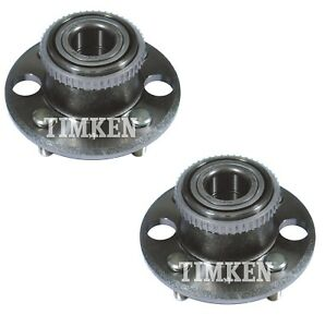 Pair Set of 2 Rear Timken Wheel Bearing & Hub Assemblies Kit for Acura Honda FWD
