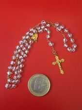 PETIT CHAPELET OR MASSIF 18K GOLD ROSARY WEDDING COMMUNION MARIAGE VIERGE VIRGIN