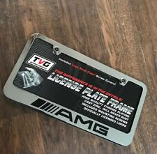 Mercedes Benz AMG Chrome Plated License Plate Frame Zinc Cap Screw Covers New