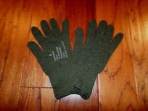 U.S MILITARY STYLE D3A COLD WEATHER GLOVE LINERS 85% WOOL 15% NYLON SZ 6 X-LARGE
