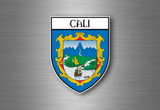 Sticker decal souvenir car coat of arms shield city flag cali colombia
