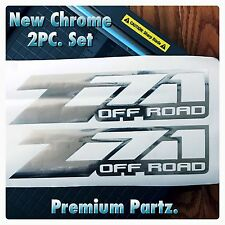 Z71 Off Road Decals 2PC Set Body Window Sticker Vinyl For Silverado Tahoe Chrome