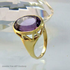 Ring in 585/- Gelbgold 1 Großer Amethyst  6,2 gr. Top Zustand
