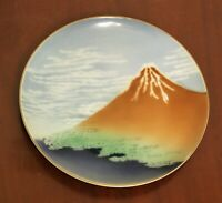 Vintage Hand Painted Porcelain  Dish Plate by Mitsu-Boshi Made in Japan