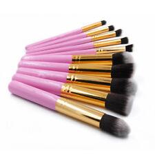 Beauty 10pcs Round Eyeliner Brush Thread Cosmetic Make Up Brushes Set Pink