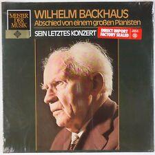 WILHELM BACKHAUS: Piano Sein Letztes Konzert SEALED Telefunken Stereo LP