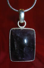 Mystic Purple Amethyst necklace snake chain natural stone pendant Valentine gift