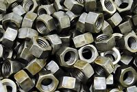 (100) 5/8-11 Plain Grade 5 Hex Finish Nuts - Unplated - Coarse