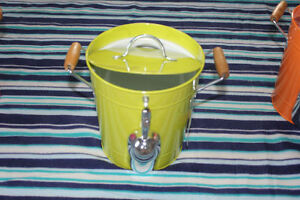 D.E.I. Tropical Fantasy Tin Ice Bucket with Ice Scoop and Lid