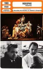 FICHE CINEMA : ROGOPAG - Welles,Rossellini,Godard,Pasolini 1963 Ro.Go.Pa.G