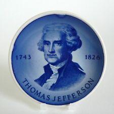 "ROYAL COPENHAGEN ALUMINIA - THOMAS JEFFERSON - PLAQUETTE 3"" PIN DISH #176 8CM"