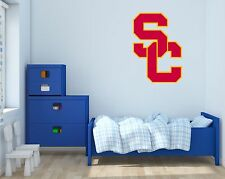USC Trojans NCAA Football Wall Decal Vinyl Sticker For Room Home Car