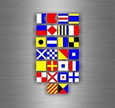 SET 26x Sticker adesivi codice internazionale nautica bandiera segnalazione