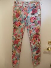 "NWT AEROPOSTALE ""Ashley"" Floral Denim Jeans  SIZE 00"