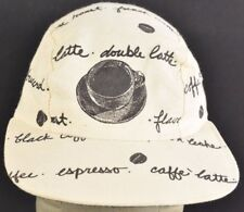 Beige Coffee Double latte hipster 5 panel Baseball hat cap adjustable snapback