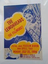 LEMONHEADS -  POSSOM DIXON - SPELL F156 ORIGINAL FILLMORE POSTER Elsa Bauman