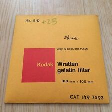 Kodak Filter No. 81D 100x100mm - Wratten - Gelatine - Gelatin 4x4