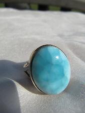 1 A Larimar Silber Ring, Gr. 56