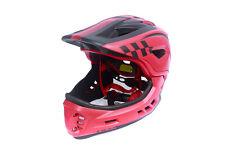 CIGNA TT32 Kids Cycling Bike Helmet 2 in 1 Half/Full-Face Detachable Red M-size