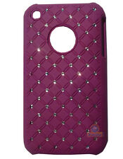 Coque rigide avec strass coloris violet Apple iPhone 3G/3GS