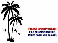 "Coconut Palm Tree Funny Vinyl Decal Sticker Car Window Bumper Wall laptop 7"""