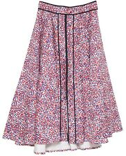 CAROLINA HERRERA Umbrella Skirt Polka Dot Full Maxi Cotton Blend Dress Sz 8