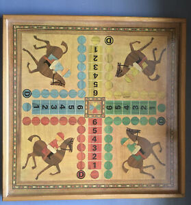 Ancien jeu des petits chevaux et jeu De l'oie DADA - JEUX DE CHEVAUX 33 X33 Cm