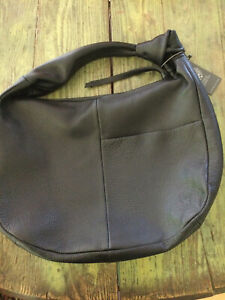 NWT Vince Camuto Black Leather XL Hobo Shoulder Bag