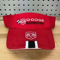 Dodge Motorsports Ram Logo NASCAR Licensed Red Visor NOS with Tags New Hat Cap