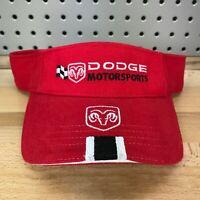 Dodge Motorsports Ram Logo NASCAR Licensed Red Visor NOS with Tags New Hat Cap