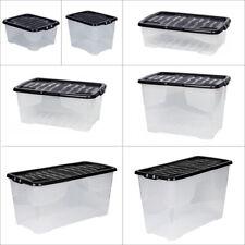 XL Aufbewahrungsbox Box Kunststoffbox Wäschebox Lagerbox Regalbox Deckel