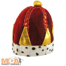 Kings Crown Boys Fancy Dress Medieval Royal Nativity Costume Kids Childs Hat New