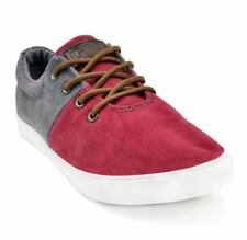 Tanggo Brandon Fashion Sneakers Lace Up Men's Rubbber Shoes (Red/Grey)  Size 43