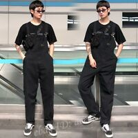 Mens Vintage Overalls Jumpsuits Casual Suspender Harem Trousers Loose Bib Pants