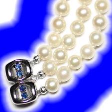 Markenlose Armbänder mit Perlen aus Weißgold