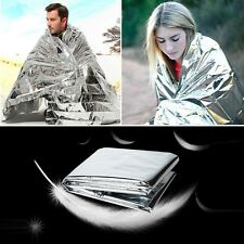 1x Emergency Thermal Blanket Tent Silver Foil Film First Aid Survival Outdoor