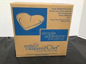 The Pampered Chef Simple Additions Heart Dish 2076 New Sealed Box