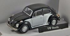 VW Beetle Black & White, Metal Model.  Cararama  1/43 Scale Car