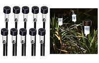 PACK OF 10 GARDEN OUTDOOR LED SOLAR LIGHTS PATIO ,PATHWAY OR DRIVEWAY LAMP