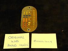ORIGINAL USED MILLS ANTIQUE SLOT MACHINE OVAL METAL AWARD CARD #OUAC1004