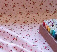 Extra Wide 100% Cotton Fabric Pink Strawberry Dot by the METRE #021